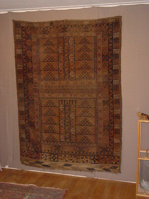 Wonderful Antique Turkoman Ersari Yurt Door Ensi Rug !!!  ***hg***