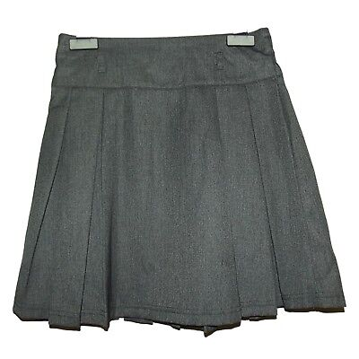 FAB NEW GIRLS EX STORE GREY BOX PLEATED BACK TO SCHOOL SKIRT AGE 3-15 yrs (MM)