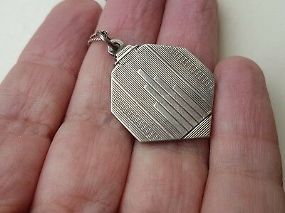 Silver Art Deco Locket And Chain Stunning Quality