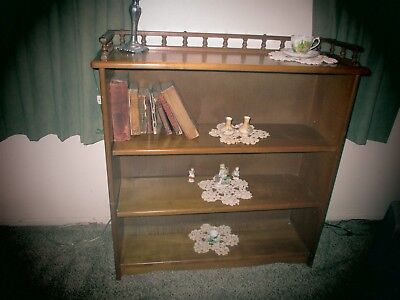 Mid Century Wooden Bookcase With Shelves For Books Knic Knacks~Maple?1950's?