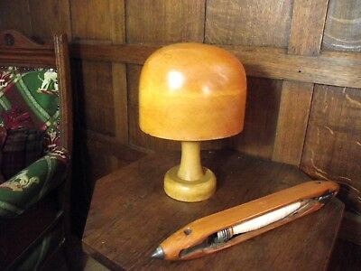 Vintage Milliners Hat Block on Stand - In Original Condition Circa 1930