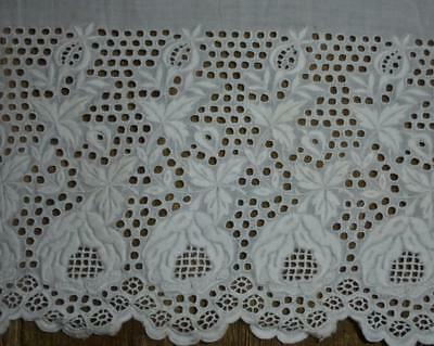 BEAUTIFUL PIECE 19th CENTURY WHITEWORK, ROSES, PROJECTS