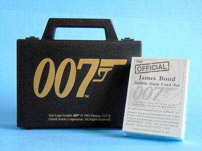 1997 RE-ISSUE of JAMES BOND 007 1962 BUBBLE GUM CARD SET in brief case with box