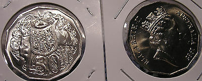 "1985 50c Australian""Coat of Arms"" Mint Set Coin:Released in Mint & Proof Sets"