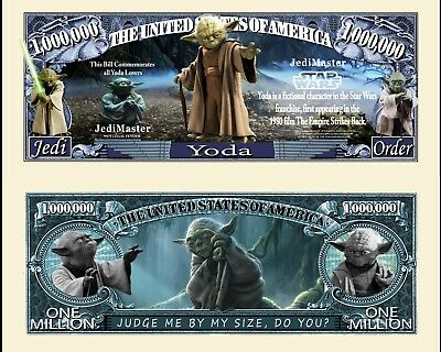 YODA STAR WARS  Novelty Dollar with Protector and Free shipping NEW