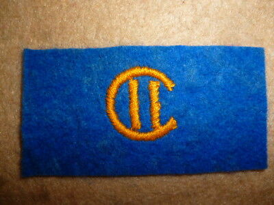 """Canadian WW2 cloth Shoulder Flash for """"2nd Canadian Division"""" Patch, 1st Type"""