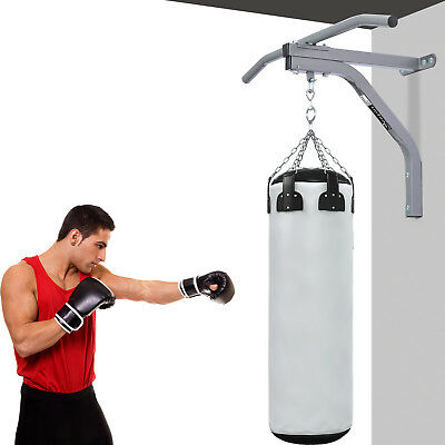 Wall Mounted Heavy Bag Hanger Punching Bag Bracket Training Pull Up Bar Grey