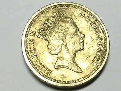 GREAT BRITAIN 1990 1 Pound coin circulated