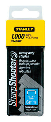 Stanley  Sharp Shooter  Narrow  Staples  Silver  1/4 in. L 1000 pk