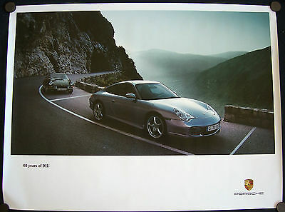 PORSCHE OFFICIAL 901 & 911 996 40th ANNIVERSARY EDITION SHOWROOM POSTER 2004