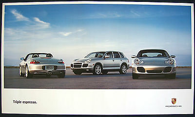Porsche Official Boxster Cayenne Carrera Showroom Poster 2004