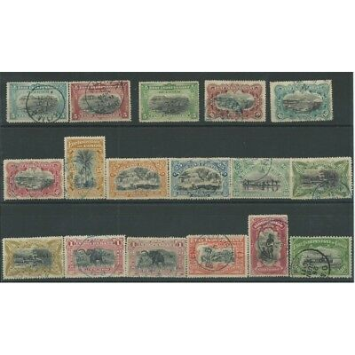 Congo Bega 1894-1900 Final Subjects Various - Center Black - 17 V Used Yv 14-2