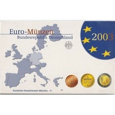 2003 Germany Germany Coin Set Of 5 Ticks Euro Fdc Proof Mf8793