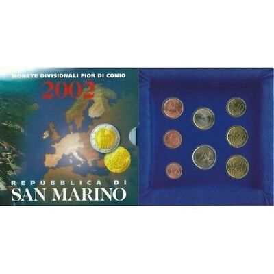 2002 San Marino Divisional Coins Fdc Packaging Mf9617