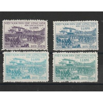 1955 Vietnam Del Nord The Government In Hanoi - 4 Val Mlh Mf51025