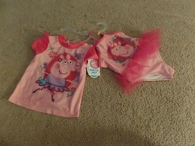 Girls, Toddler, PEPPA PIG, Two-Piece Swimsuit Set, Size: 2T, UPF 50+, New w/Tags