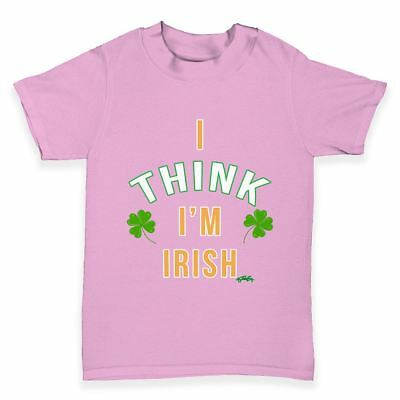 Funny Infant Baby Tshirts St Patricks Day I Think I'm Irish Baby Toddler T-Shirt