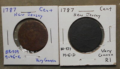 2 New Jersey Coppers 1787