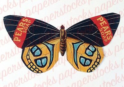 c.1800's 'PEARS SOAP' BUTTERFLY MEDICAL HOUSEHOLD ADVERTISING QUACK A3 PRINT