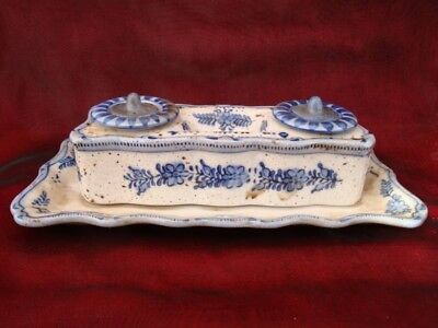 Ceramic Porcelain French Style Office Writing case Inkwell