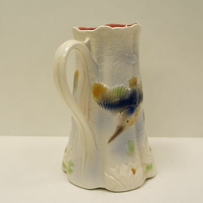 Ceramic Barbotine Porcelain French Style Bird Pitcher Pitcher