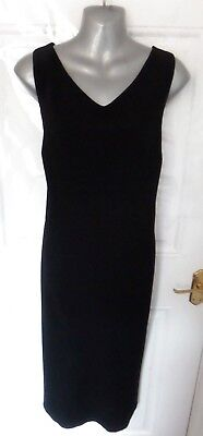 "❤ Vintage LAURA ASHLEY Beautiful Ladies Size 18 Black Shift Dress Lined 44"" Bust"
