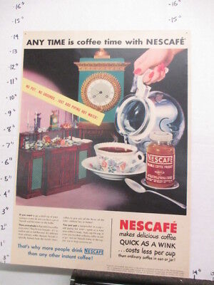 "newspaper ad 1948 NYSN Nescafe coffee instant ""soluble coffee product"" jar"