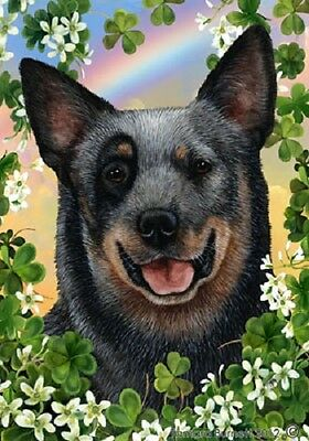 Garden Indoor/Outdoor Clover Flag - Blue Australian Cattle Dog 310721