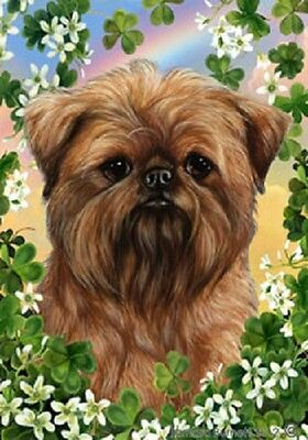 Garden Indoor/Outdoor Clover Flag - Brussels Griffon 311281