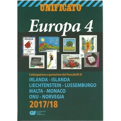 Unificato 2017-2018 Catalogo Francobolli Europa Volume 4 Mf25556