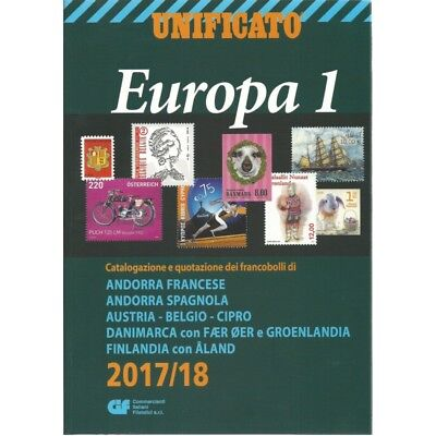 Unificato 2017-2018 Catalogo Francobolli Europa Volume 1 Mf25555