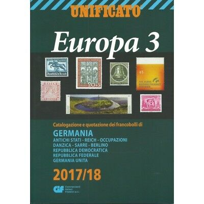 Unificato 2017-2018 Catalogo Francobolli Europa Volume 3 Mf25553