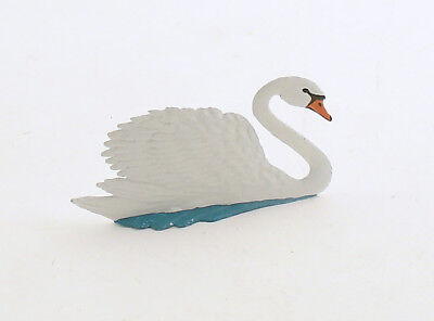 Swan Figurine Miniature Metal Wilhelm Schweizer Germany
