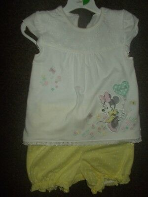 Baby Girls disney Minnie Mouse summer shorts & top 6-9 months excellent cond