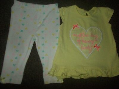 Baby Girls leggings & top 6-9 months excellent condition