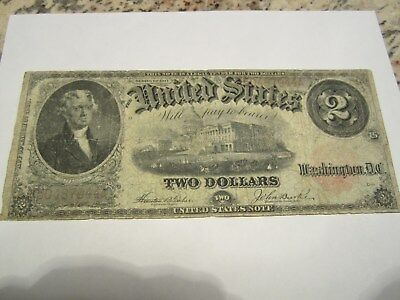 1917 $2 United States Note   Nice