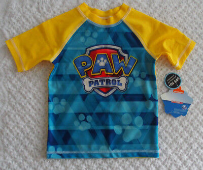 Nickelodeon Boys 3T Paw Patrol Rash Guard NWT NEW swim top sun beach bathing