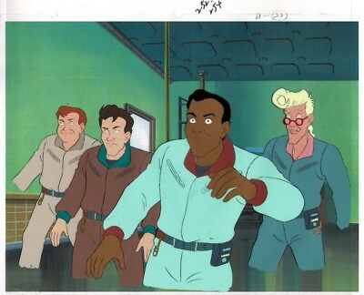 The Real Ghostbusters Original Production Animation Cel & Copy Bkgd #A25801