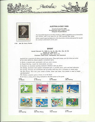 AUSTRALIA 1989 7 PAGES of SEVEN SEAS HINGELESS STAMPS:Muh