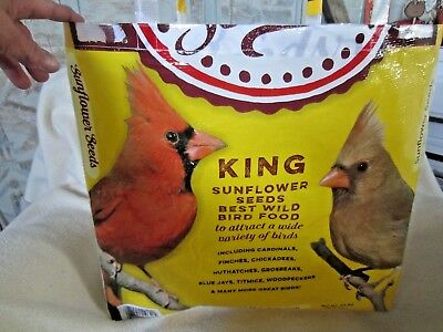 Upcycle~4 Birds~King Sunflower Seeds Recycled Feed Bag~Grocery~Market Tote