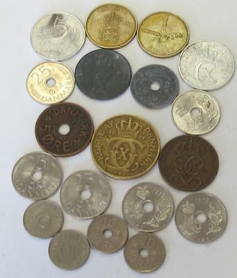 Circulated Danmark Denmark Coins Lot Take On Vacation