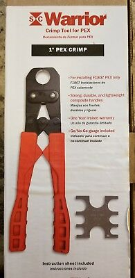 "New SIOUX CHIEF 1"" PEX Crimp Tool 305-40CPK"