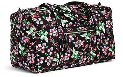 NEW Vera Bradley Iconic Large Travel Duffel Bag/Tote Winter Berry Pattern NWT