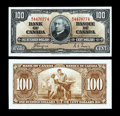 1937 $100 Canadian Bank Note~~UNCIRCULATED~