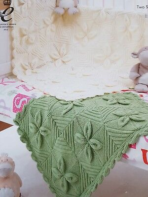 Knitting Pattern For Baby Blanket For Pram Cot And A Shawl Dk 002