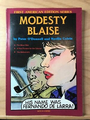 1985 Modesty Blaise Peter O'Donnell Jim Holdaway First American Edition Series 6
