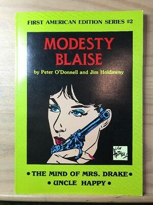 1981 Modesty Blaise Peter O'Donnell Jim Holdaway First American Edition Series 2