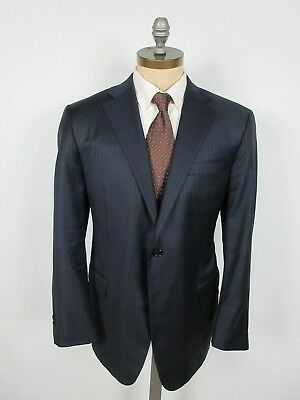HICKEY FREEMAN Suit Loro Piana Super 150s Wool 44R Dual Vent Jacket Flat Front