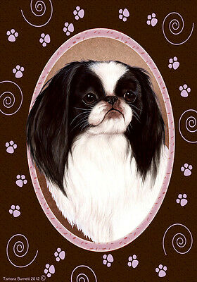 Large Indoor/Outdoor Paws Flag - Japanese Chin 17133