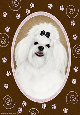 Large Indoor/Outdoor Paws Flag - Maltese Pup 17041